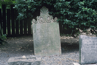 image of the headstone