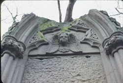close-up image of the monument