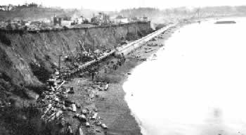 Building Ross Bay Seawall (detail of D-01295 – BC Archives)