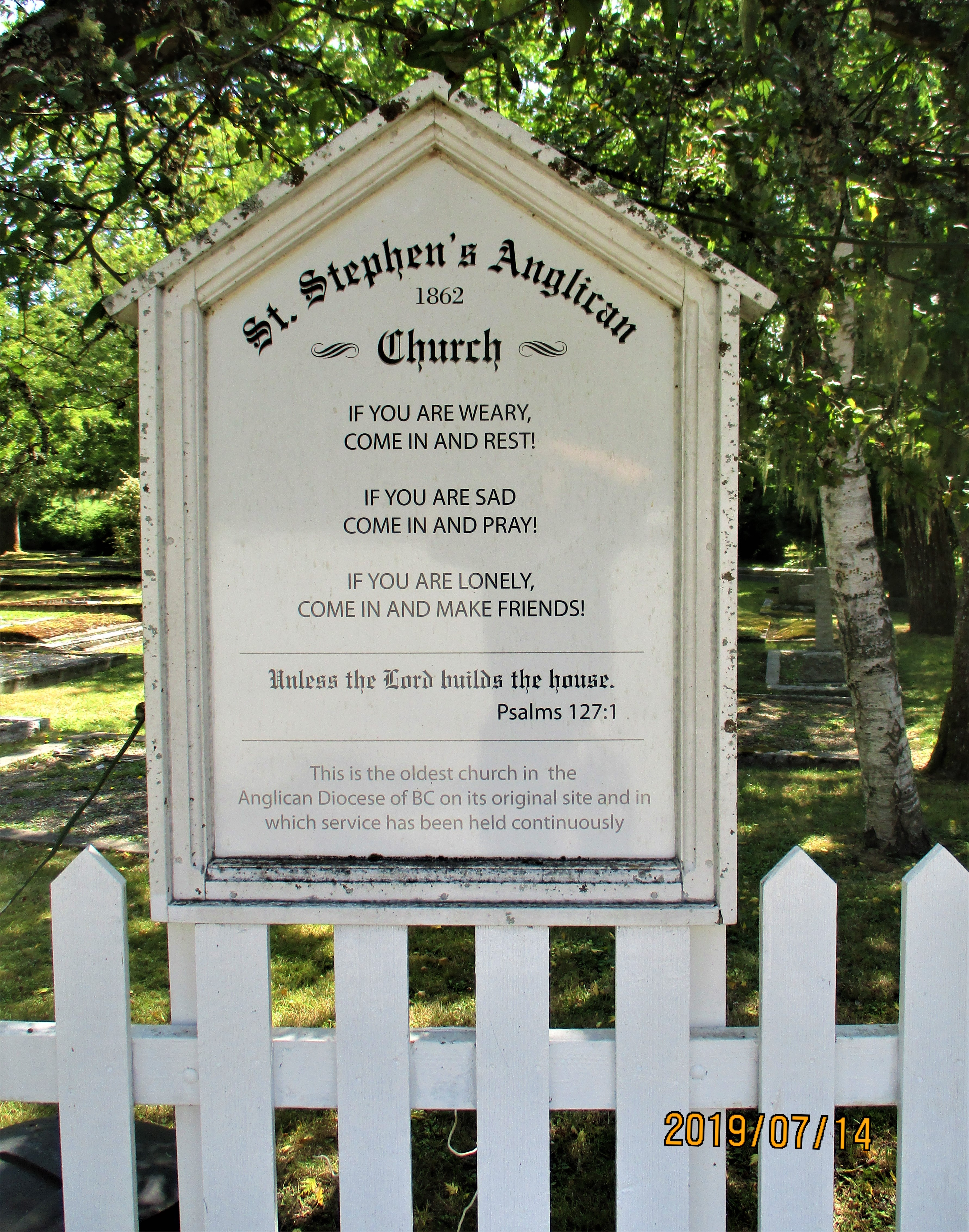 St  Stephen's Anglican Church Cemetery – Old Cemeteries Society of